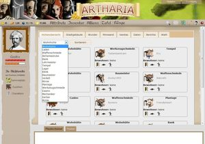 Screenshot 3 von Browsergame Artharia