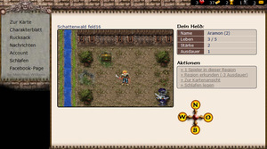 Screenshot 1 von Browsergame Mythana