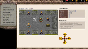 Screenshot 2 von Browsergame Mythana