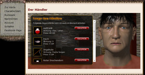 Screenshot 3 von Browsergame Mythana