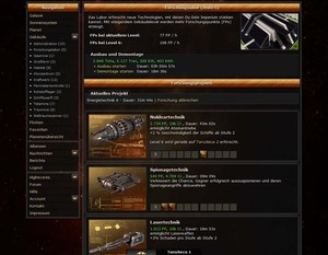 Screenshot 3 von Browsergame Stellar Legends: WarSpace