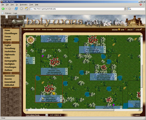 Screenshot 1 von Browsergame Holy-Wars 2